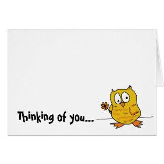 hootio, pensando en usted tarjeta pequeña