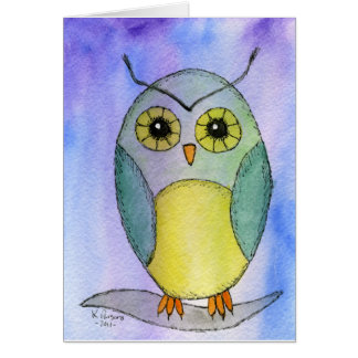 Hoots the Owl Greeting Card