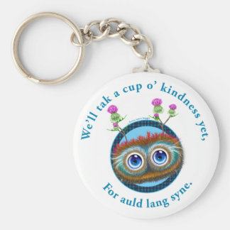 Hoots Toots Haggis. Auld Lang Syne. Basic Round Button Keychain