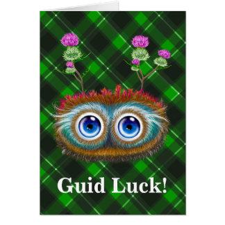 Hoots Toots Haggis! Guid Luck! Card