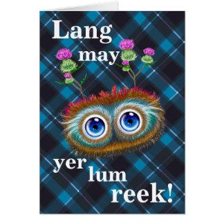 Hoots Toots Haggis! Lang May Yer Lum Reek! Card