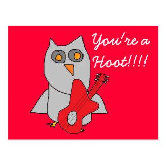 Hooty Cutie Owl card