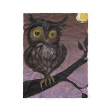 Halloween Themed Hooty Owl Throw Blanket