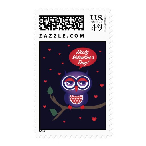Hooty Valentine's Day Stamps