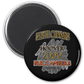 Hoover Buccaneers 2009 Alabama State Champs! 2 Inch Round Magnet