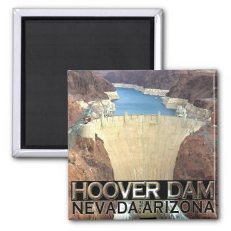 Hoover Dam 2 Inch Square Magnet