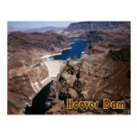 Hoover Dam - aerial view Post Card