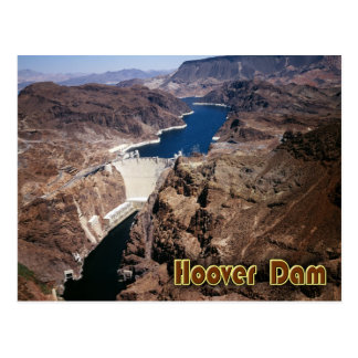 Hoover Dam - aerial view Postcard