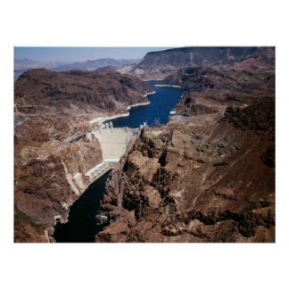 Hoover Dam - aerial view Poster