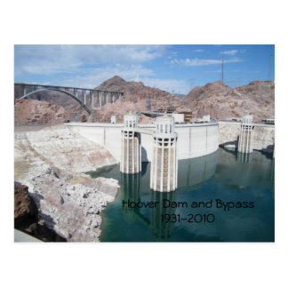 Hoover Dam and Bypass1931-2010 Postcard