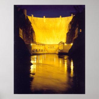 Hoover Dam at Night Print