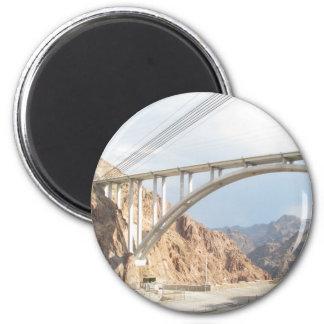 Hoover Dam Bridge 2 Inch Round Magnet