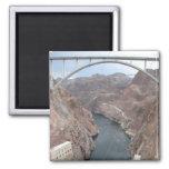 Hoover Dam Bridge 2 Inch Square Magnet