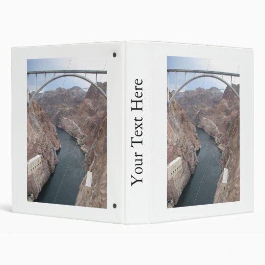 Hoover Dam Bridge 3 Ring Binder
