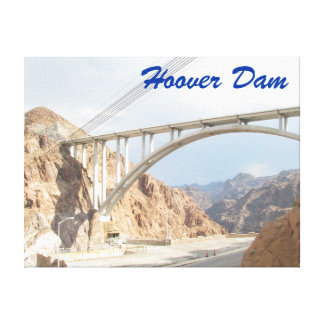 Hoover Dam Bridge Stretched Canvas Prints