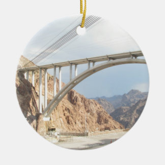 Hoover Dam Bridge Ceramic Ornament