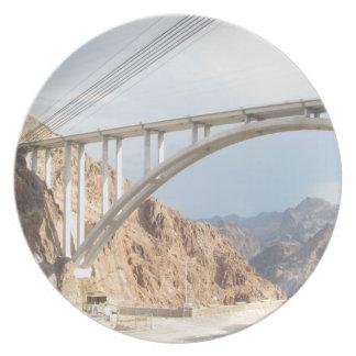 Hoover Dam Bridge Dinner Plate