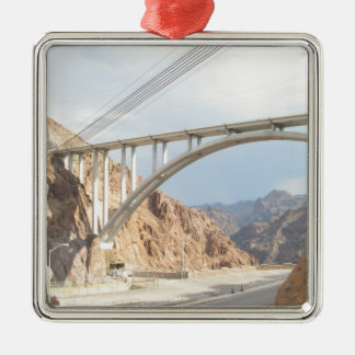 Hoover Dam Bridge Metal Ornament
