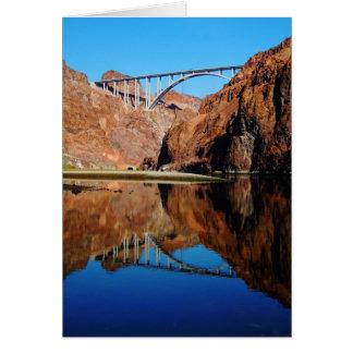 Hoover Dam Bypass Memorial Bridge Blank Card Vert.
