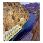 Hoover Dam Canvas Print Poster