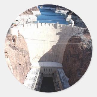 Hoover Dam Classic Round Sticker