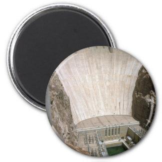 Hoover Dam, lower face, Nevada/Arizona, USA 2 Inch Round Magnet