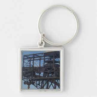 Hoover Dam pulley Silver-Colored Square Keychain