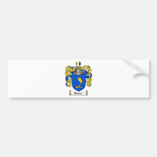 HOOVER FAMILY CREST -  HOOVER COAT OF ARMS BUMPER STICKER