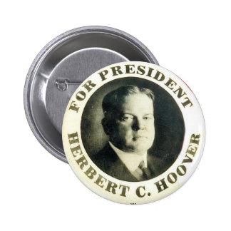 Hoover para el presidente - botón pin