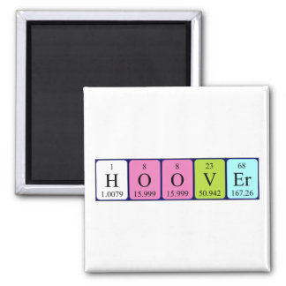 Hoover periodic table name magnet