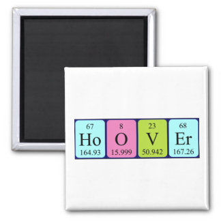 Hoover periodic table name magnet refrigerator magnets