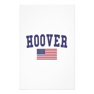 Hoover US Flag Stationery