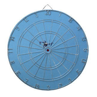 Hoovering Droid Against Blue Sky Simplicity Dart Board