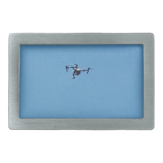 Hoovering Droid Against Blue Sky Simplicity Rectangular Belt Buckle