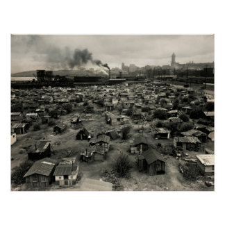HOOVERVILLE in SEATTLE - GREAT DEPRESSION Poster