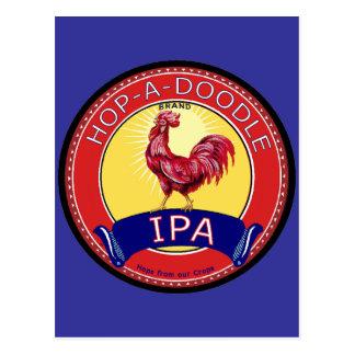 Hop a Doodle IPA Beer Postcard