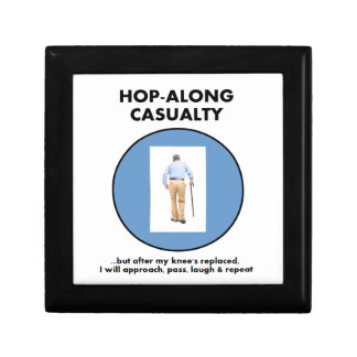 Hop-along Casualty - wait till my Knee Replacement Jewelry Box