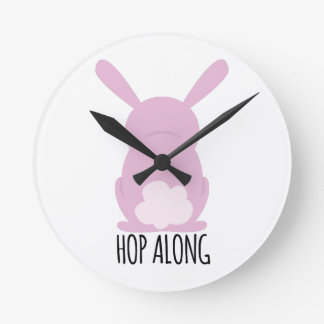 Hop Along Round Wall Clock