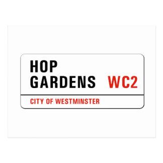 Hop Gardens, London Street Sign Postcard
