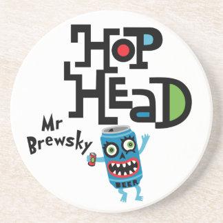 Hop Head (Mr Brewsky) - coasters
