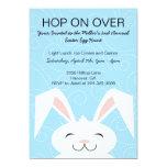 Hop Hop Bunny Rabbit Easter Party Invitation