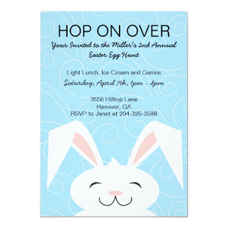 Hop Hop Bunny Rabbit Easter Party Invitation