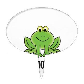 Hop hop hop frog cake topper
