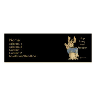 Hop Long and Prosper Double-Sided Mini Business Cards (Pack Of 20)