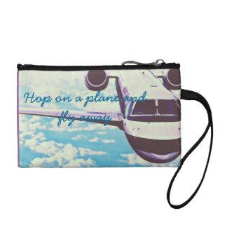 Hop on a plane coin purse