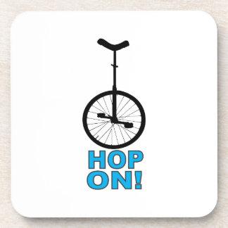 Hop On! Drink Coaster