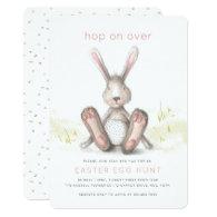 Hop on Over Easter Brunch Egg Hunt Invitation