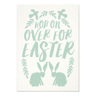 Hop On Over Easter Invitation // Aqua