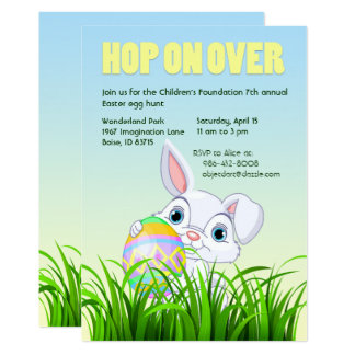 Hop On Over Easter Invitations