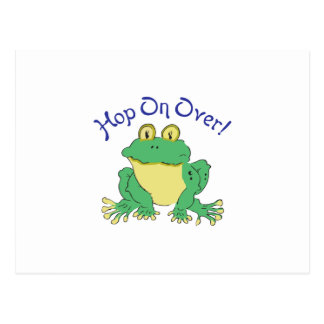 HOP ON OVER POSTCARD